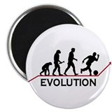 "Bowling Evolution 2.25"" Magnet (10 pack)"