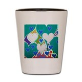 Raining Hearts Jade Shot Glass