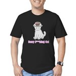 Scary Cat Men's Fitted T-Shirt (dark)