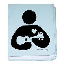Ukulele Love baby blanket