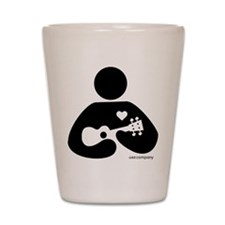 Ukulele Love Shot Glass