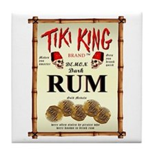 Tiki King Luau Rum Label Tile Coaster