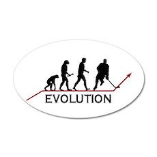 Hockey Evolution 38.5 x 24.5 Oval Wall Peel