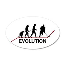 Hockey Evolution 38.5 x 24.5 Oval Wall Peel