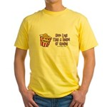 Legs Bucket of Chicken Yellow T-Shirt