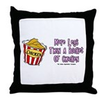 Legs Bucket of Chicken Throw Pillow