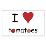 I Love Tomatoes Sticker (Rectangle 50 pk)