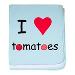 I Love Tomatoes baby blanket