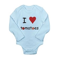 I Love Tomatoes Long Sleeve Infant Bodysuit