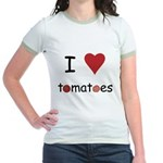 I Love Tomatoes Jr. Ringer T-Shirt