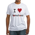 I Love Tomatoes Fitted T-Shirt