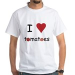 I Love Tomatoes White T-Shirt