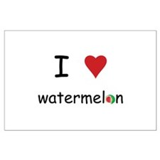 I Love Watermelon Large Poster
