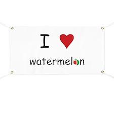 I Love Watermelon Banner