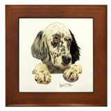 English Setter Framed Tile