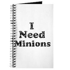 Vintage I Need Minions Journal