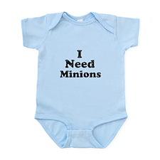 Vintage I Need Minions Infant Bodysuit