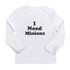 Vintage I Need Minions Long Sleeve Infant T-Shirt