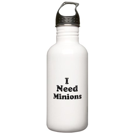 Vintage I Need Minions Stainless Water Bottle 1.0L