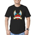 Little Angel Men's Fitted T-Shirt (dark)