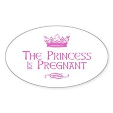 The Princess is Pregnant Decal