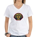 Compton Fire Department Women's V-Neck T-Shirt