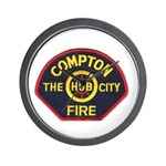 Compton Fire Department Wall Clock