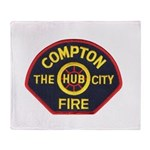 Compton Fire Department Throw Blanket