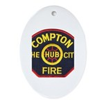 Compton Fire Department Ornament (Oval)