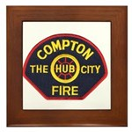 Compton Fire Department Framed Tile