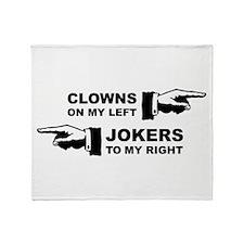 Clowns & Jokers Throw Blanket