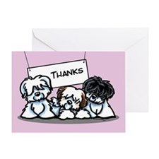 Three Cotons Thank You Greeting Card