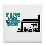 I Live For Estate Sales Tile Coaster