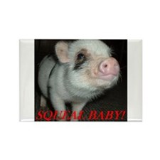 Cute Miniature pigs Rectangle Magnet