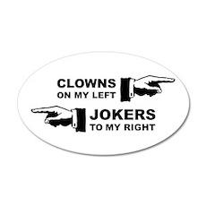 Clowns & Jokers 38.5 x 24.5 Oval Wall Peel