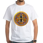 Gold-Red Goddess Pentacle White T-Shirt