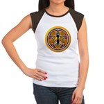 Gold-Red Goddess Pentacle Women's Cap Sleeve T-Shi