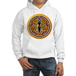 Gold-Red Goddess Pentacle Hooded Sweatshirt
