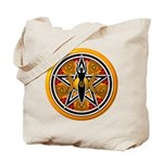 Gold-Red Goddess Pentacle Tote Bag