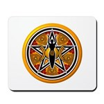 Gold-Red Goddess Pentacle Mousepad