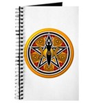 Gold-Red Goddess Pentacle Journal