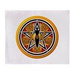 Gold-Red Goddess Pentacle Throw Blanket