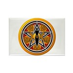 Gold-Red Goddess Pentacle Rectangle Magnet