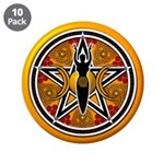 Gold-Red Goddess Pentacle 3.5
