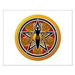 Gold-Red Goddess Pentacle Small Poster