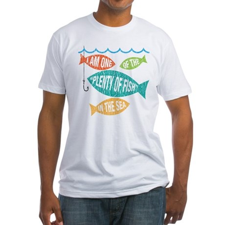 plenty of fish - vintage Fitted T-Shirt