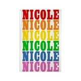 Rainbow Name Rectangle Magnet