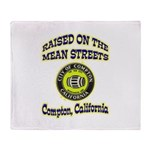 Mean Streets of Compton Throw Blanket