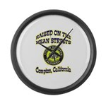Mean Streets of Compton Large Wall Clock