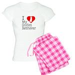 I Love My Golden Retriever Women's Light Pajamas